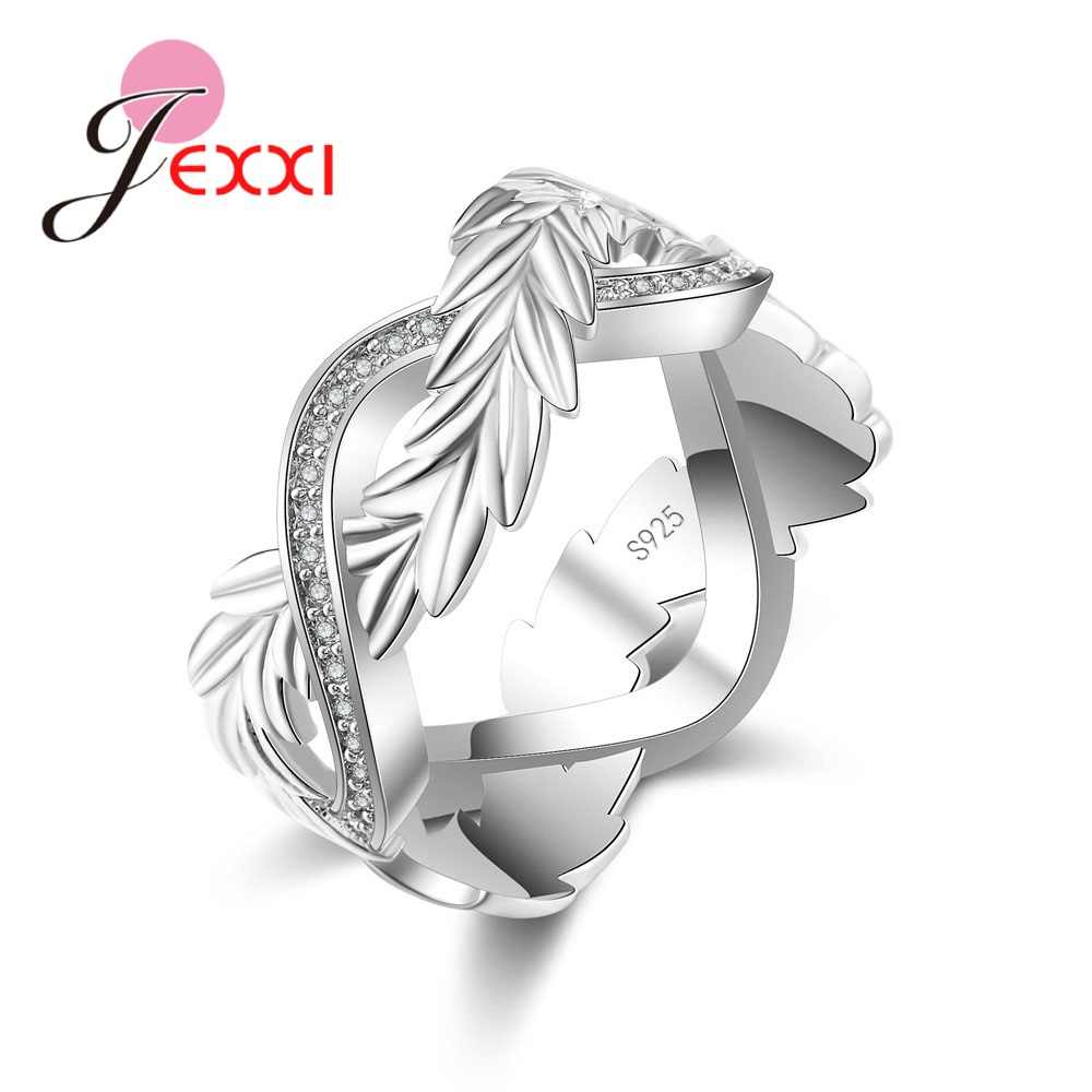 Explosion Models Hot sale 925 Sterling Silver Ring Novel Plant Shiny Small Crystal Jewelry Party Holiday Christmas Gift