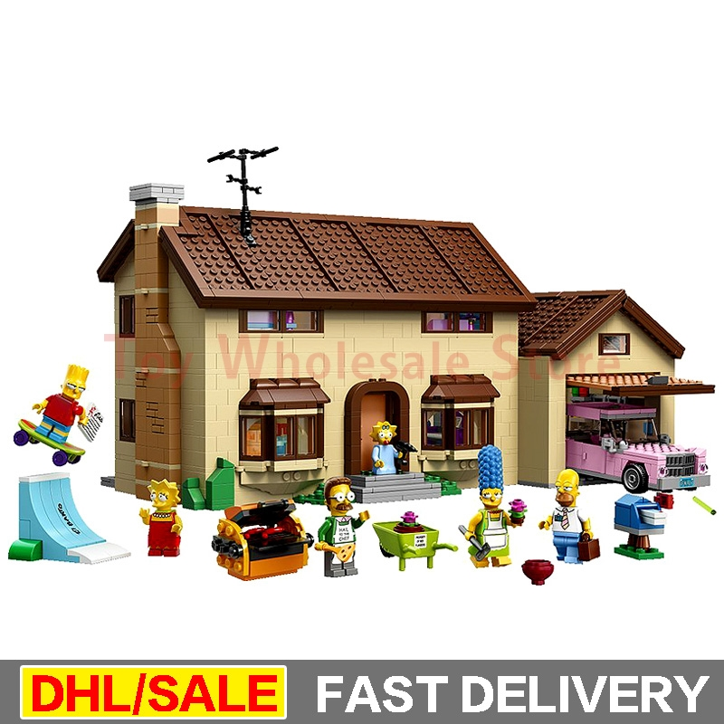 Lepin 16005 Simpsons House 2575Pcs Model Building Block Bricks Compatible legoed 71006 Boy gift legoings lepin Toys