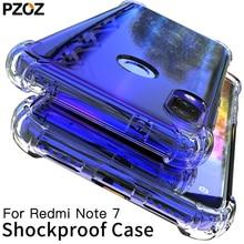 PZOZ For Xiaomi Redmi Note 7 Case Cover Silicone Shockproof Redmi 7 Note 7 Pro Transparent Clear Protective Xiomi note7 case 6.3
