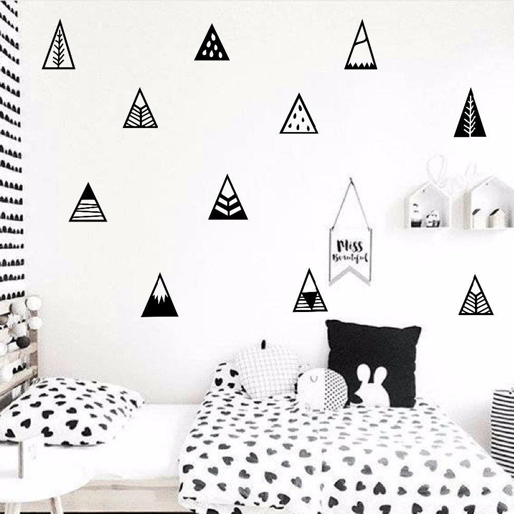 Nordic Style Mountain Wall Sticker Children Room Hill Pegantinas Wall Decal Kids Room DIY Easy Cut Vinyl Baby Nursery Decor (2)