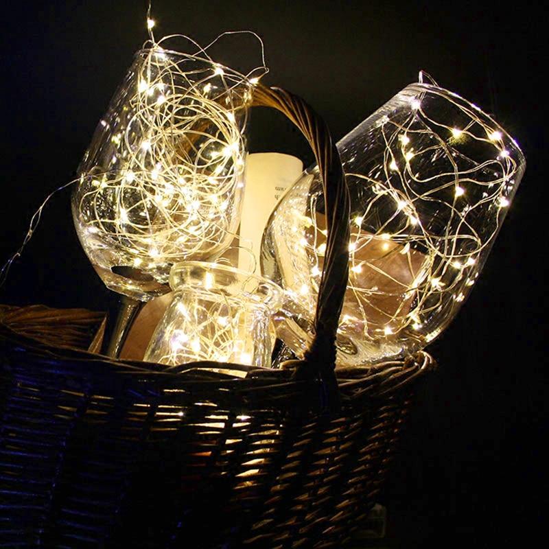2/5/10 м 20/50/100 LED AA Батарея Гирлянды светодиодные огни на Рождество гирлянды партии свадебные украшения Рождество мигалкой Фея огни