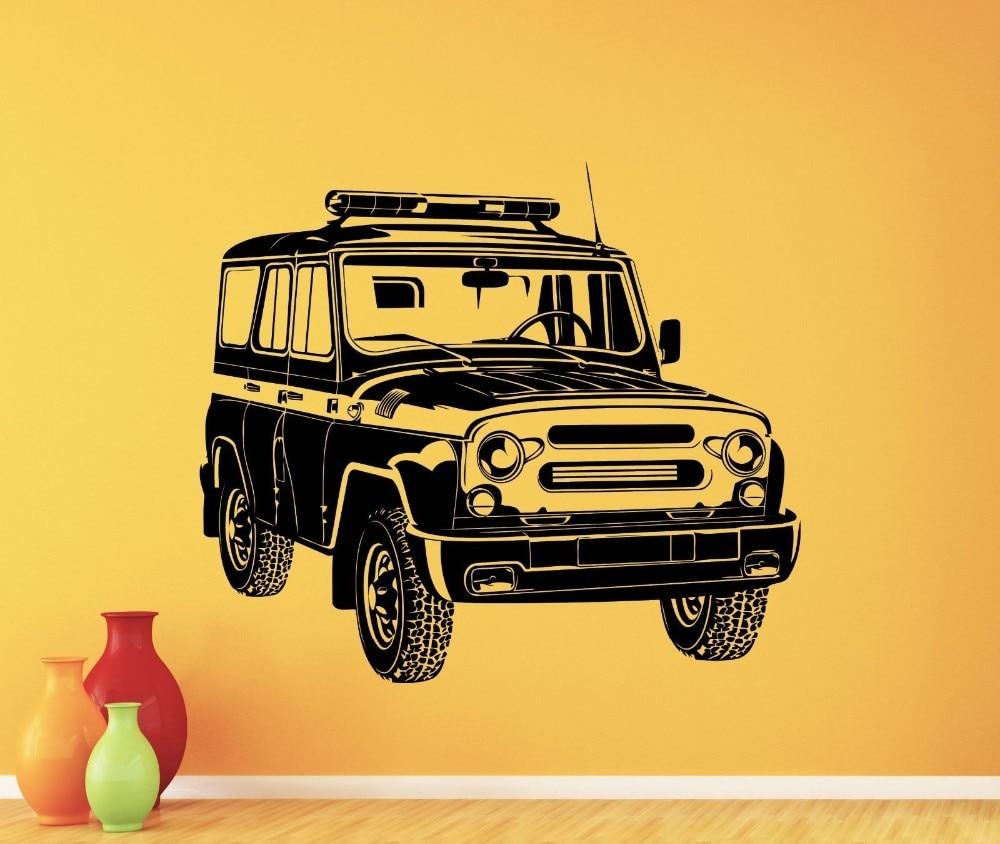 Styling Art Russian Car UAZ Wall Decal Garage Vinyl Sticker Art ...