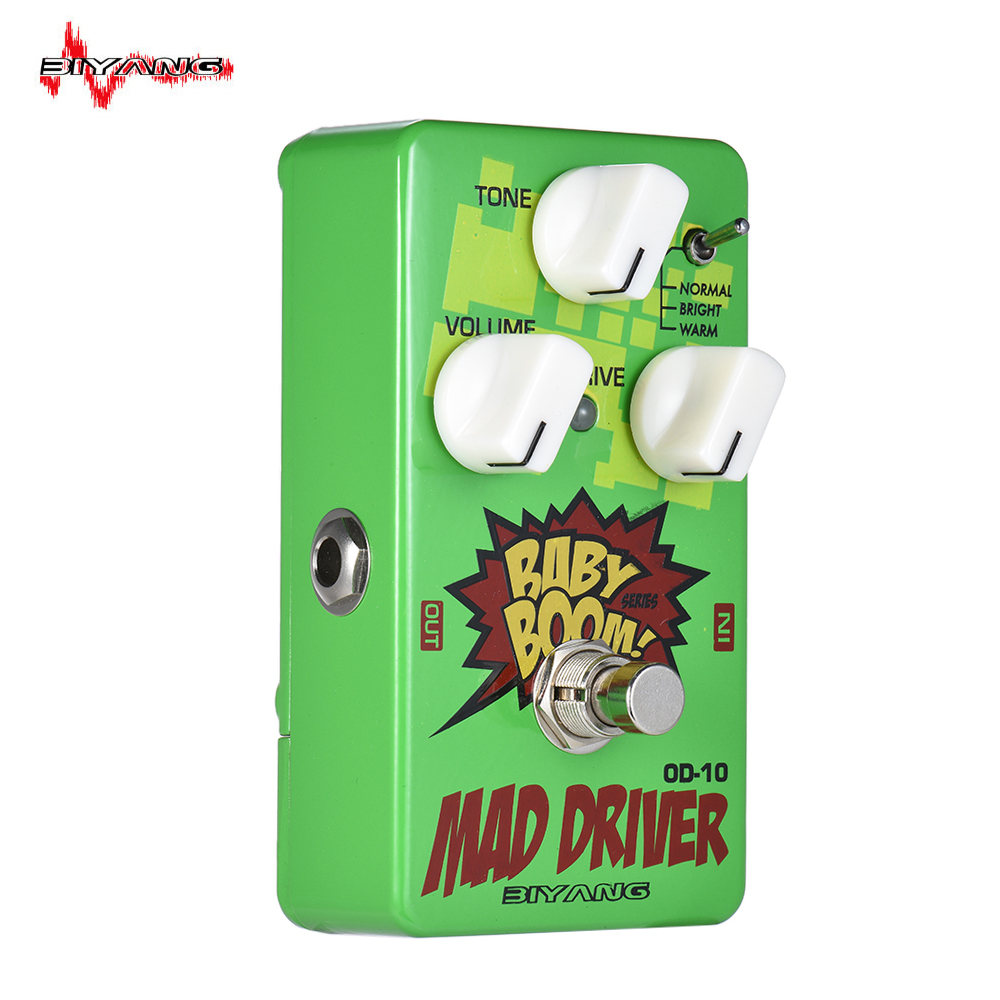 High quality BIYANG OD-10 BABY BOOM Series 3 Modes Overdrive Guitar Effect Pedal True Bypass Full Metal Shell