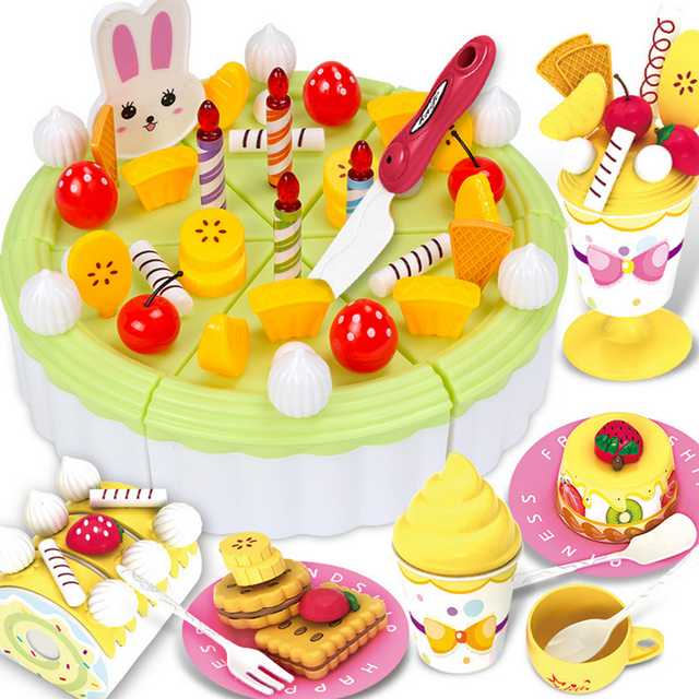 12 Types New Kitchen Toys Pretend Play Cutting Birthday Cake Food