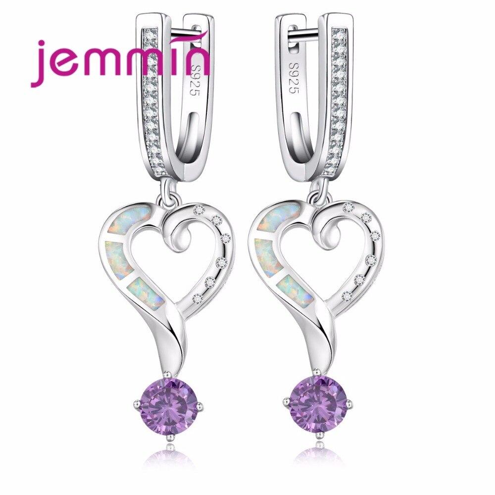 Jemmin Fine Quality Heart Earrings Sterling Silver