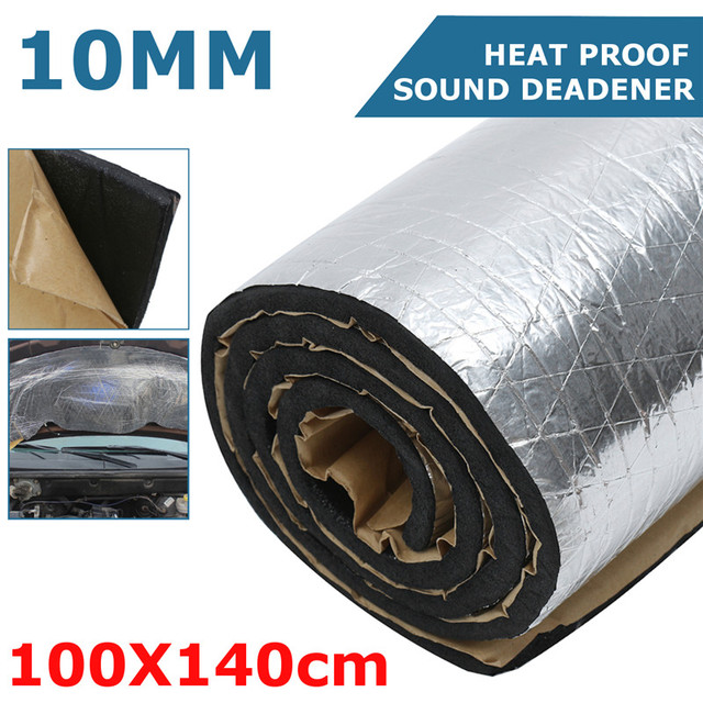 1 Roll 10mm Thick Car Heat Sound Deadener Deadening Cotton Noise