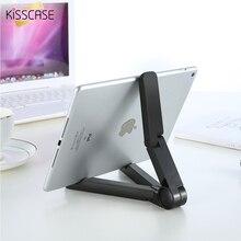 Kisscase 360 градусов вращающийся складной универсальный Планшеты PC подставка-держатель складной ленивый Поддержка для iPad воздуха мини 1 2 3 4 для Samsung