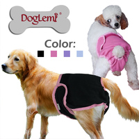 10pcs /bag, mixed color and sizes, Doglemi Washable Female Dog Diapers Cover Ups Sanitary Dog Pants