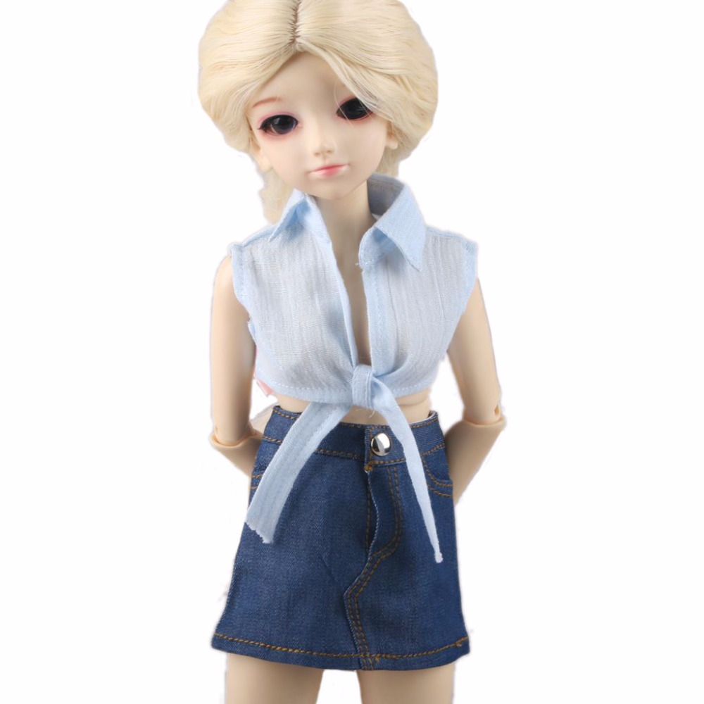 PF 80#  Blouse Shirt Skirt For 1//3 SD DZ AOD 1//4 MSD BJD Doll Dollfie Outfits