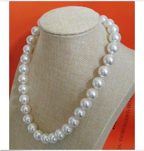 hugeAAA 11-13mm osuth sea round white pearl necklace 18inch 14khugeAAA 11-13mm osuth sea round white pearl necklace 18inch 14k