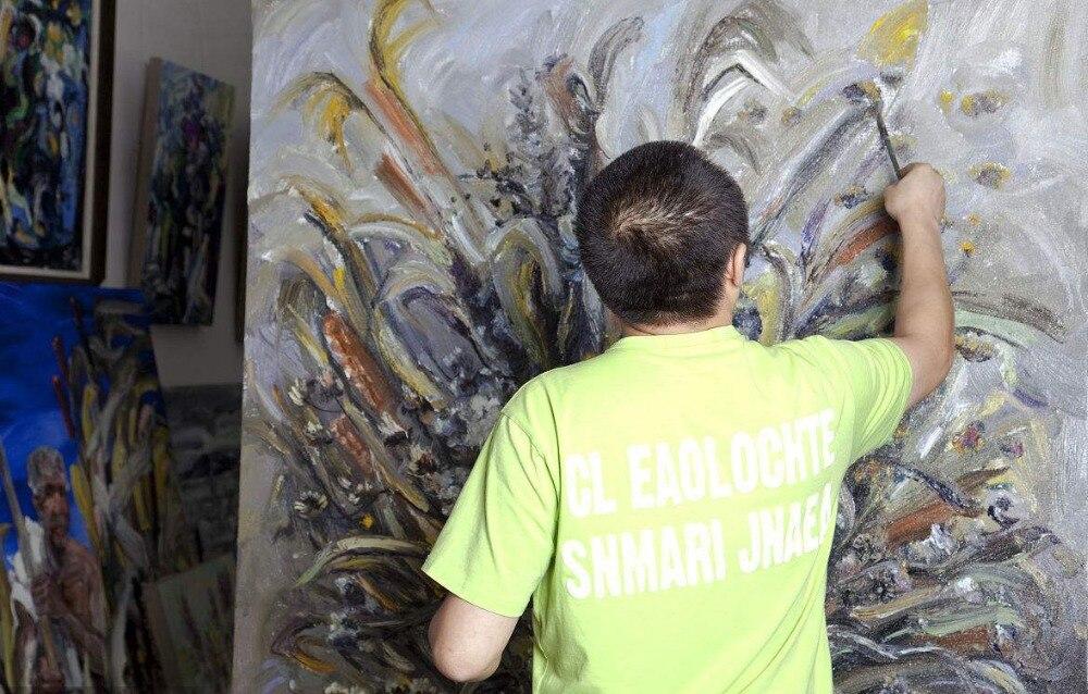 Художник пользовательские Услуги 100% расписанную искусство абстрактная живопись маслом для фото Бесплатная доставка стоимость 36 дюйм(ов)