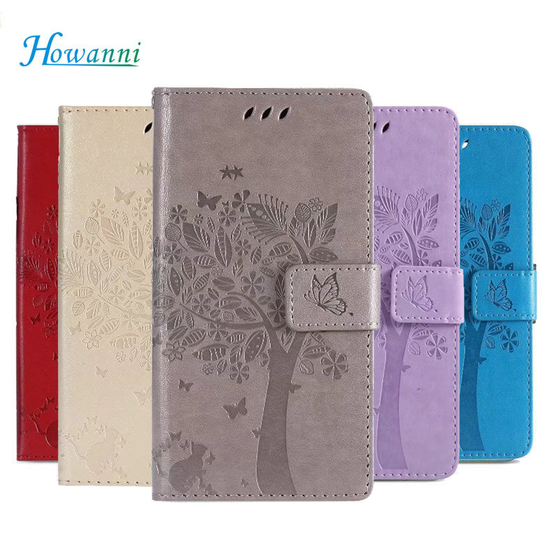Luxury Flip Leather Case For Sony Xperia M5 Case 5.0