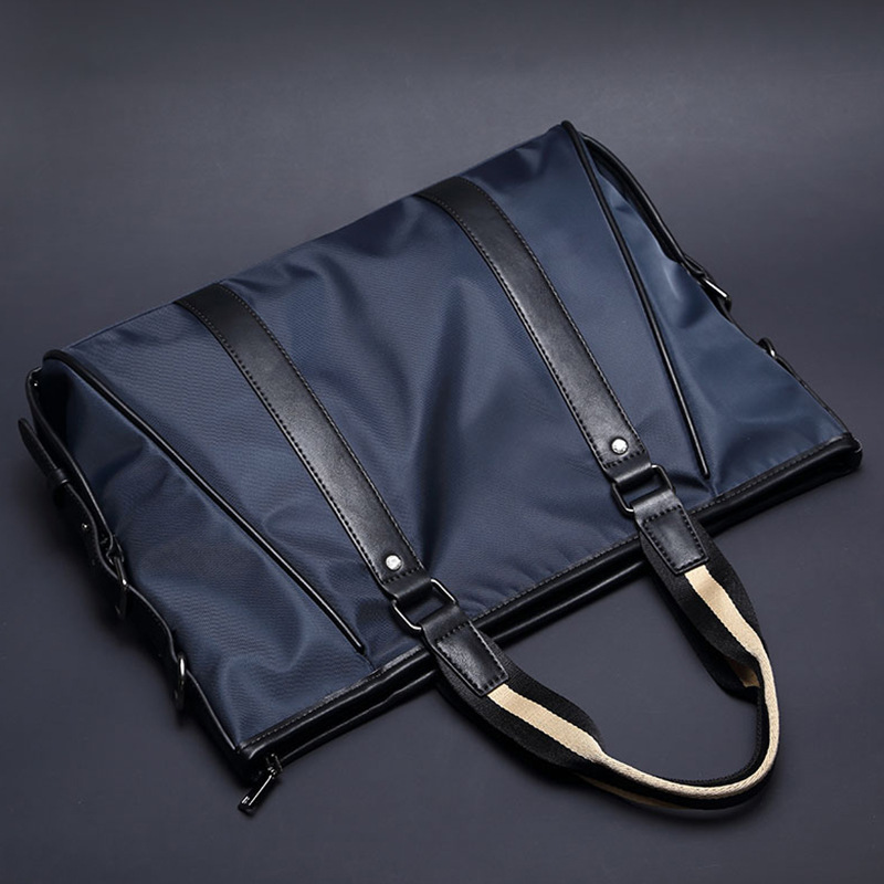 Mens Casual Business Waterproof Nylon Shoulder Bags Crossbody Bag Big Tote Handbags Messenger Bag Male Fashion Briefcase
