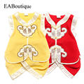 Summer New High Quality Cotton Silk Traditional Chinese Costume for baby boys 1-3 years retail Tang suit track suit 1 set