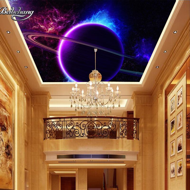 Beibehang Custom mural 3D cosmic sky ceiling wallpaper background 3D wallpaper the living room ceiling wallpaper for walls 3 d