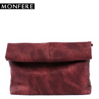 MONFERE Soft Denim Clutch Purses Long Envelope Handbag Vintage Small Wallet Women Vegan Leather Crossbody Wristlet