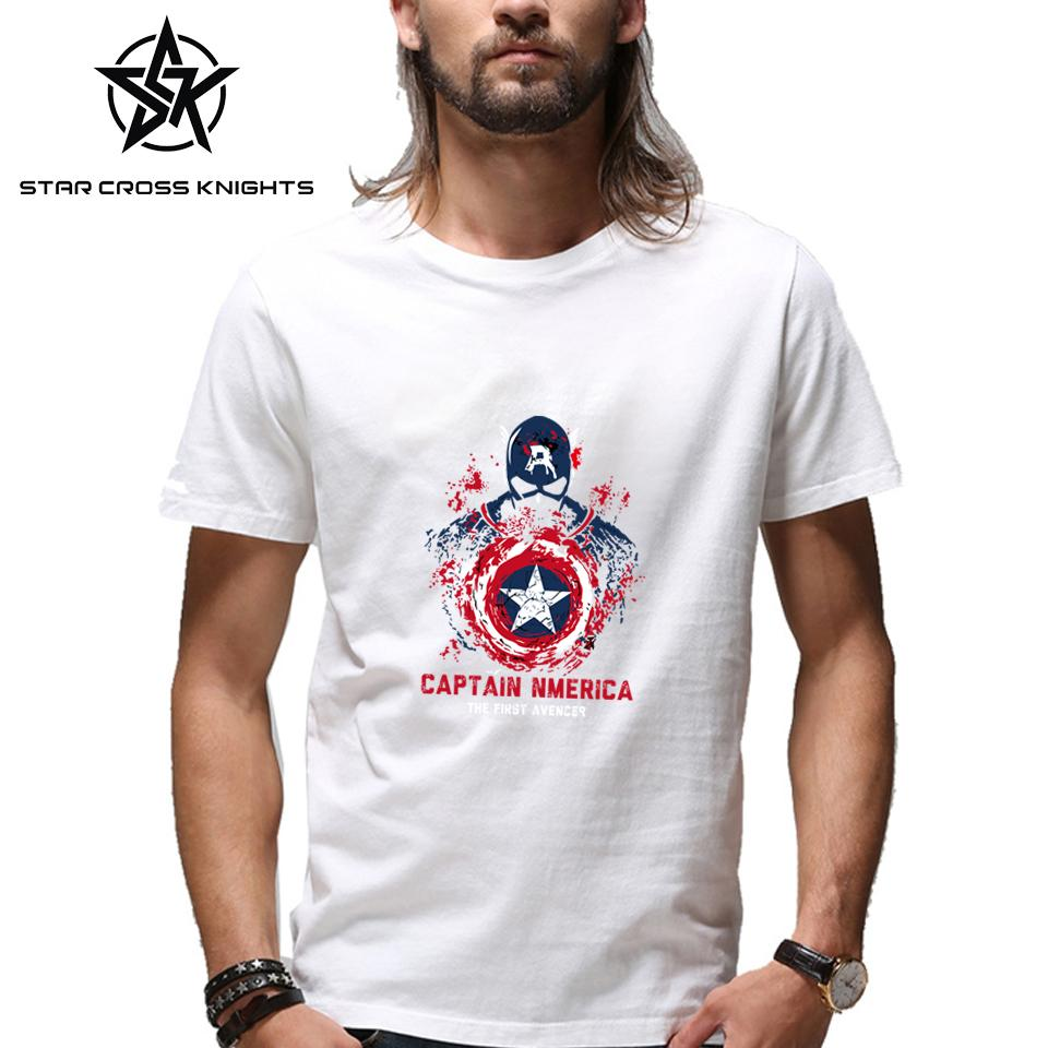 Capitan America Mens Tops Marvel