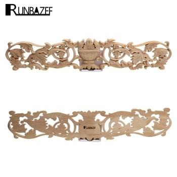 RUNBAZEF apliques de madera maciza muebles gabinete estilo cabeza pieza de flor Fondo pared decorativa decoración del hogar decoración del jardín