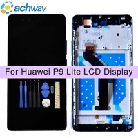 For Huawei P9 Lite LCD Display Touch Screen Digitizer Assembly With Frame Replacement Parts For 5