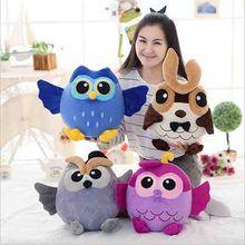 new 4 colors cute cartoon owl owl doll plush toys to send his girlfriend a gift free shipping