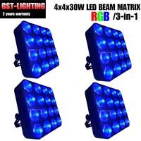 4pcs/lot COB wash audience 16 eye flood lighting 16*30W Led matrix blinder DMX stage