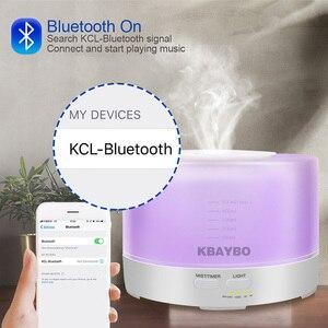 Image 4 - 500 Ml Siêu Âm Không Khí Thơm Máy Phun Sương Tạo Độ Ẩm 7 Màu Đèn LED Thay Đổi Và Kết Nối Bluetooth Phát Nhạc Điện Máy Khuếch Tán Tinh Dầu