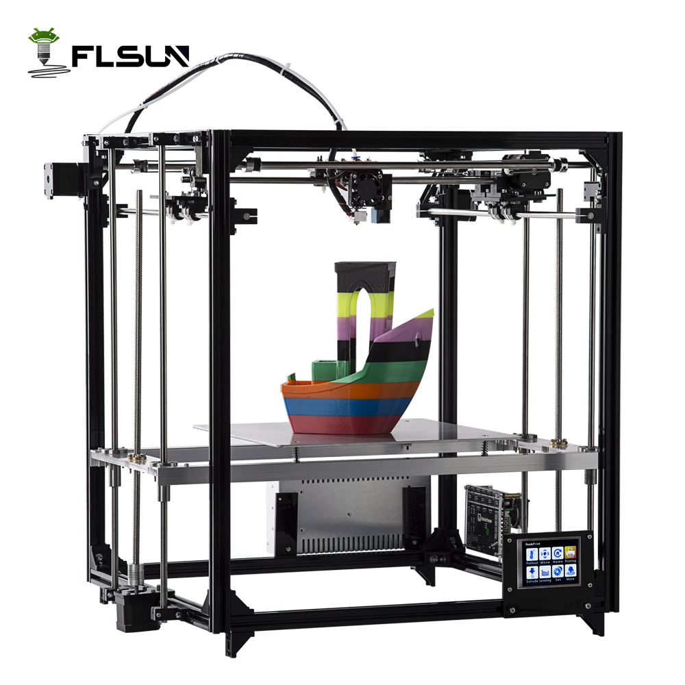 Flsun 3D Printer Double Extruder Version Large Printing Size 260*260*350mm Auto Leveling Heated Bed Touch Screen Wifi Moduel large buid size newest kossel k280 delta 3d printer 24v 400w power with auto level and heat bed two rolls of filament gift