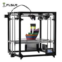 Flsun Imprimante 3D Double Extrudeuse Version Grande Taille D'impression 260*260*350mm Auto Nivellement Chauffée Lit Tactile écran Wifi Moduel