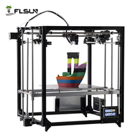 Flsun Cube 3D Printer Double Extruder Version Large Printing Size 260 260 350mm Auto Leveling Heated