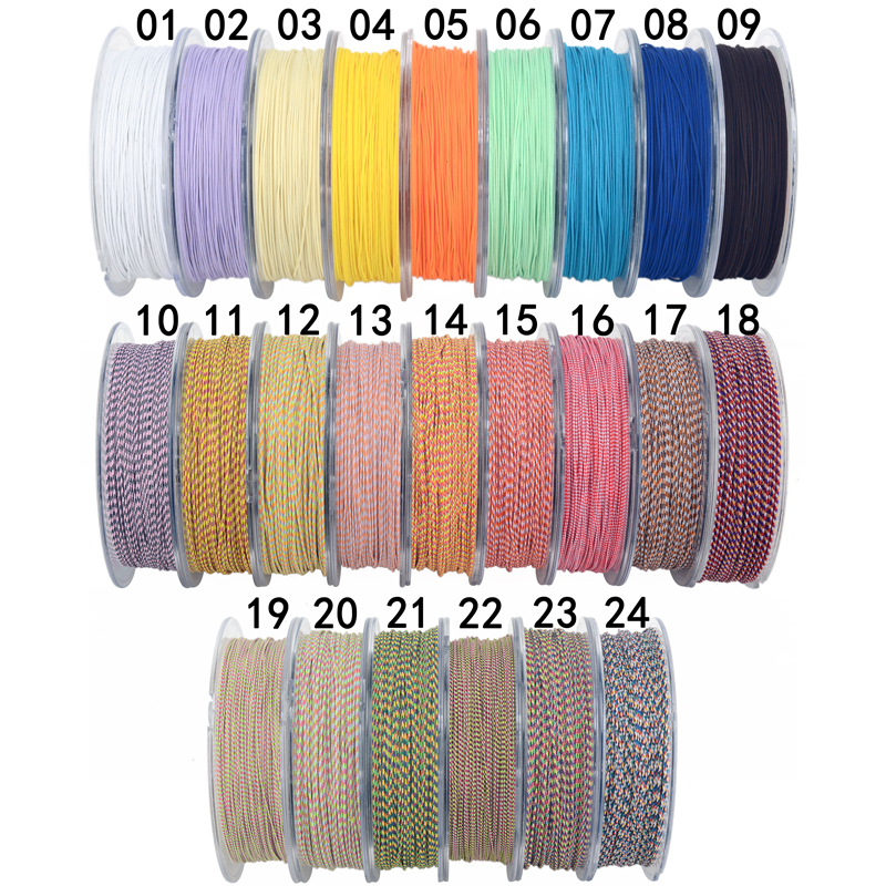 0 6mm Nylon Cord Thread Chinese Knot Macrame Cord Bracelet Braided String DIY Tassels Beading Flower pattern jade rope in Jewelry Findings Components from Jewelry Accessories