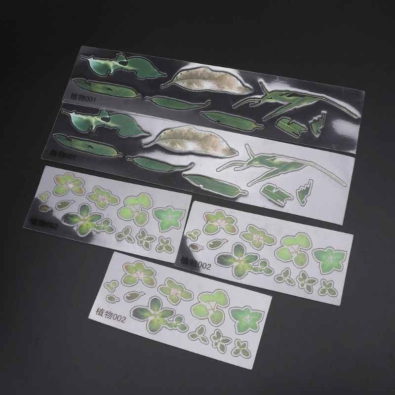 5 Pcs 3D Deixa Claro Água Grama Adesivo Filme Para A Resina Pintura Peixinho Jewely DIY Resina Artesanato Artesanato Acessórios