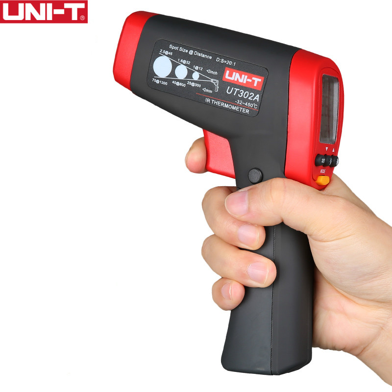 UNI-T UT302A/302C/302D Infrared Thermometer measure temperature from a distance EASY to carry non-contact fast test temperature uni t ut301a infrared thermometer measure temperature from a distance easy to carry non contact fast test temperature