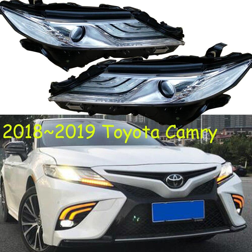 1 pièces phare pare-chocs pour Camry Phares voiture Accessoires 2018 2019 Camry Phare DRL caché lo Faisceau LED