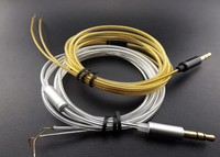 5N gold-plated oxygen-free copper headphone cable shield