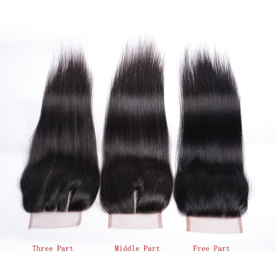 Joedir Hair Brazilian Straight 4x4 Snörning Med Babyhår Mänskligt - Skönhet och hälsa - Foto 5