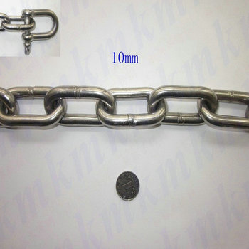 Hot Products wholesale ordinary 304 stainless steel 10MM diameter long link chain