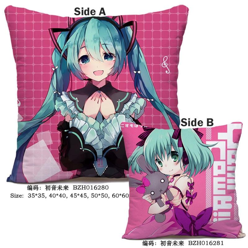 Anime Hatsune Miku Fanart 40*40 Cm Vierkante Kussensloop Kussen Kussen Case Cover Cosplay Otaku Gift Bed/bank /auto Decor Nieuwe