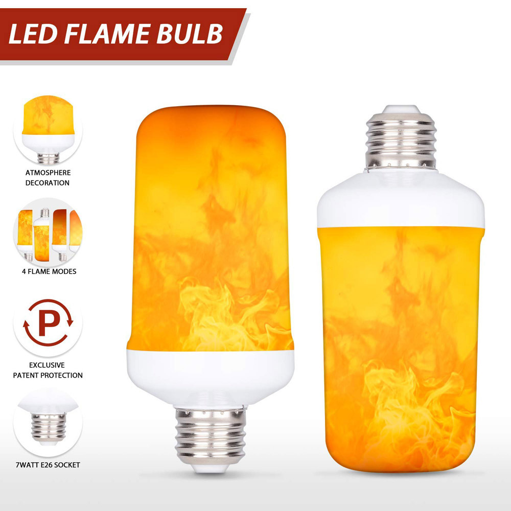 Creative 3 Modes+Gravity Sensor Fire Lights E27 E14 B22 LED Dynamic Flame Effect Corn Bulb AC 85-265V Flickering Emulation Decor