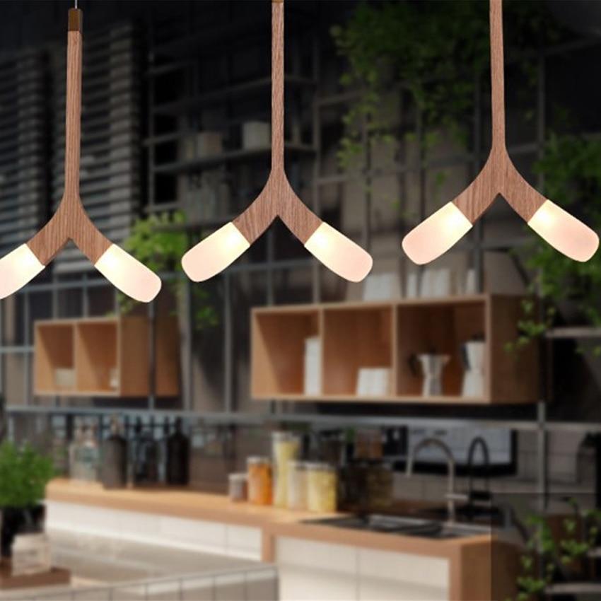3 Вт Современный простой елочка <font><b>LED</b></font> подвеска лампа твердой древесины и акриловые светильники для Дома//Ресторан/Бар