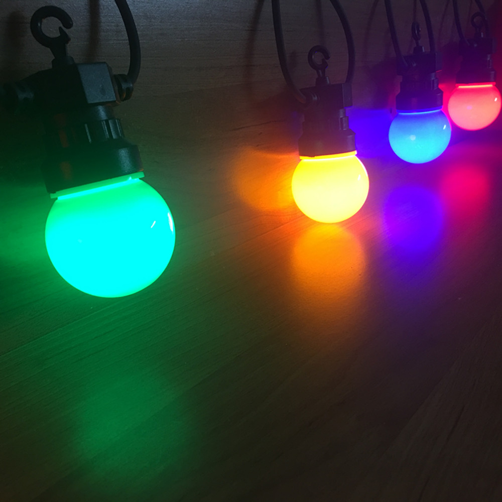 VNL IP65 Milky Globe G50 Multicolor Bulb String Connectable Outdoor Colorful String Lights For Wedding Christmas Garland Party globe fairy string bulb lights for indoor outdoor wedding christmas xmas thanksgiving party events home roof decor colorful