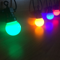 VNL IP65 Milky Globe G50 Multicolor Bulb String Connectable Outdoor Colorful String Lights For Wedding Christmas Garland Party