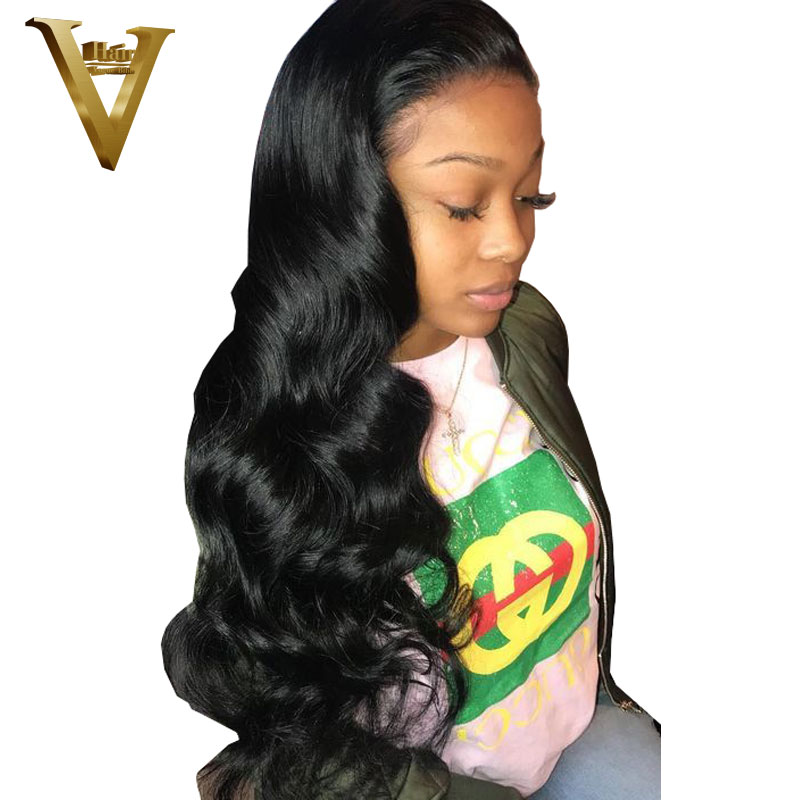 Full Lace Human Hair Wigs For Women Body Wave Brazilian Remy Human Hair Wigs 8 26 Glueless Full Lace Wigs With Baby Hair-in Human Hair Lace Wigs from Hair Extensions & Wigs    1