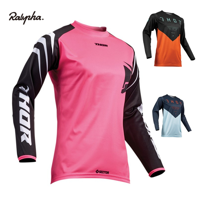 2019 MOTO GP Thor Downhill Jerseys Breathable Clothing Bmx Moto Gp Off-road Women Race Motocross Motorcycle Riding Team Dh Shirt