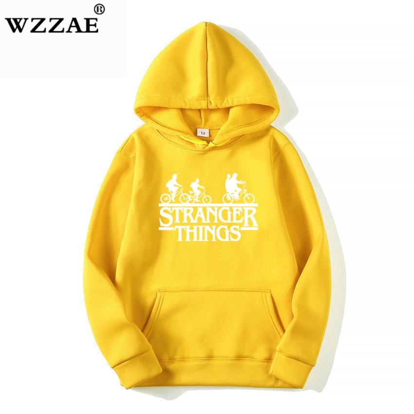 Trendy Faces Stranger Things Hooded Hoodies and Sweatshirts 14