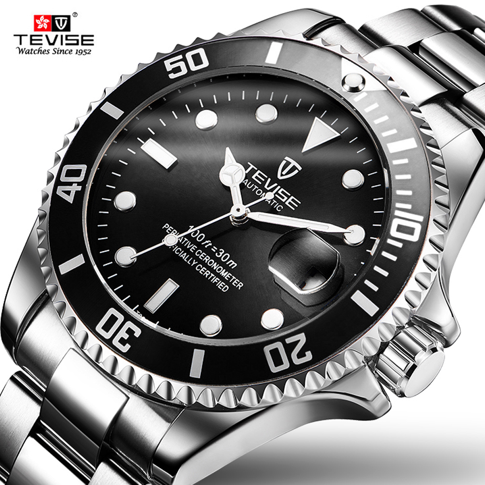 Fashion Brand Mechanical TEVISE Watch Mens Automatic Fashion Luxury Stainless Steel Strap Wrist Watches For BusinessFashion Brand Mechanical TEVISE Watch Mens Automatic Fashion Luxury Stainless Steel Strap Wrist Watches For Business