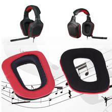 Hot Sale Replacement Ear Pads Cushions for Logitech G35 G930 G430 F450 Headphones Red Color *