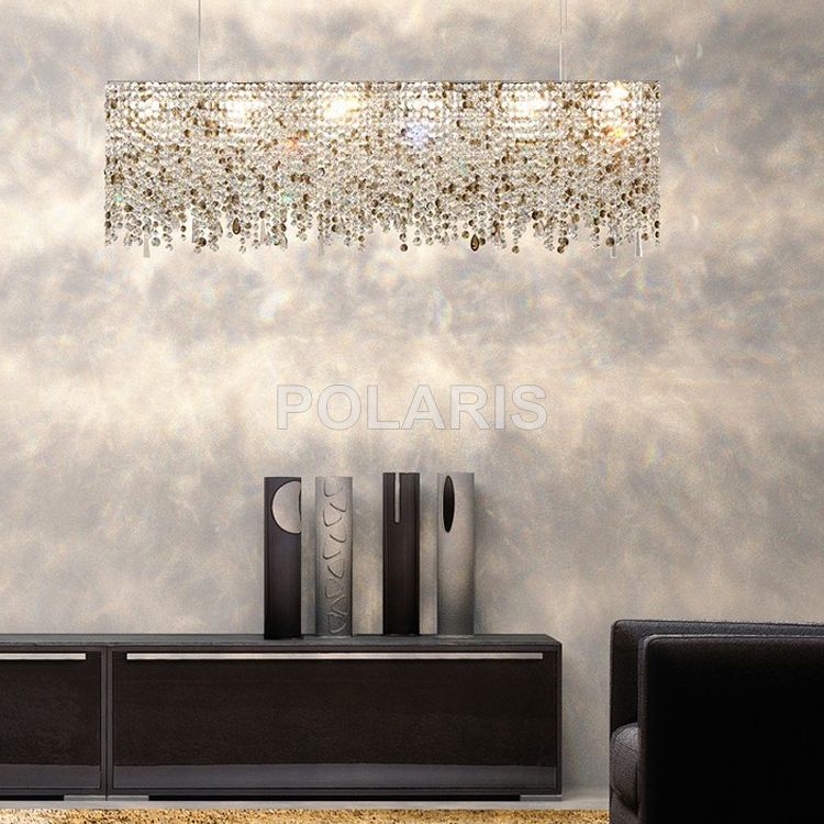 Image 3 - Contemporary Modern Luxury LED K9 Crystal Chandelier Lighting Hanging Lights / Lamps for Villa Dining Room and Hotel Decoration-in Chandeliers from Lights & Lighting