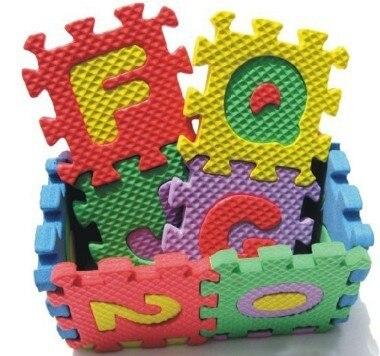 Развивающие игрушки Ева пены цифровые буквы 3D головоломки коврики детские игрушки
