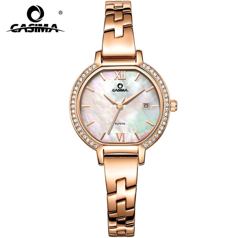 2017 CASIMA Luxury Brand Armband Klockor Kvinnor Mode Casual Ladies Quartz Armbandsur Women's Waterproof 2614