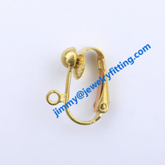 Earring findings brass lever back earring clip Silver plated 500pcs